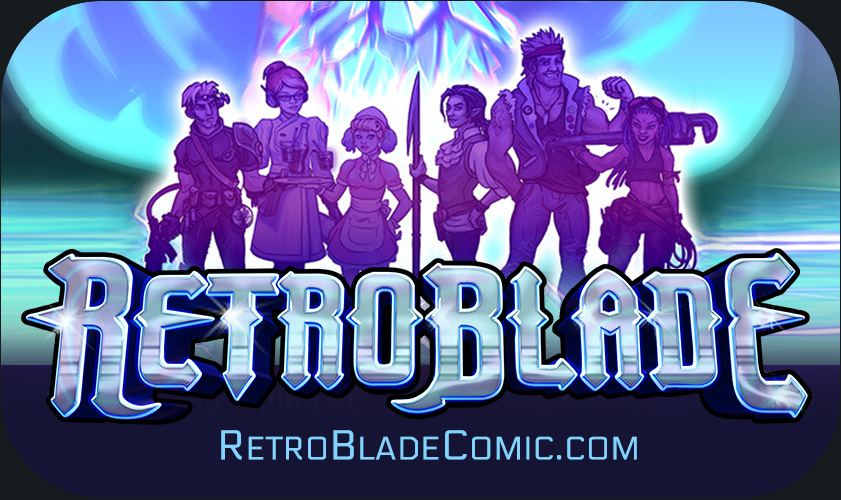 RetroBlade Comic Splash Page