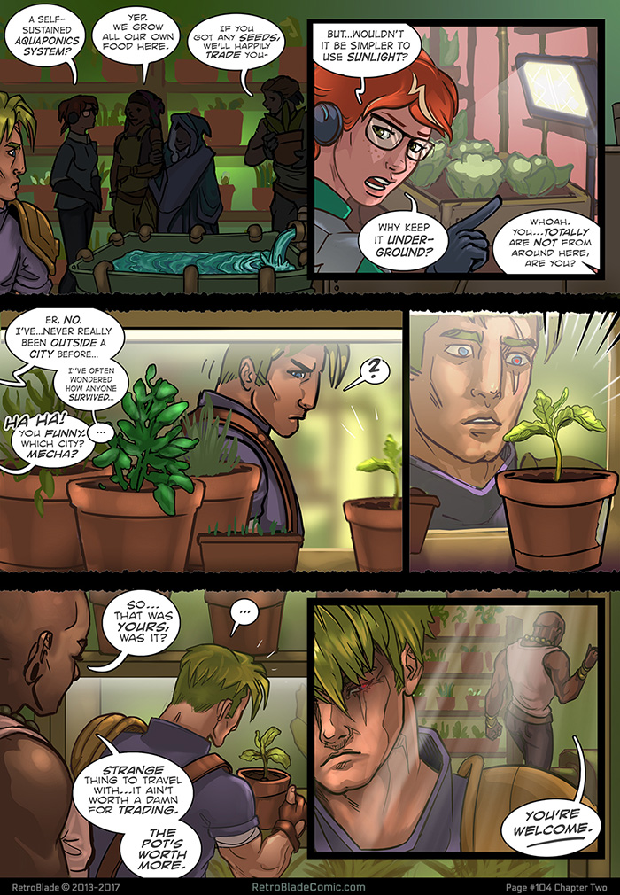 Oh, Gus. Insulting the hair AND the plant? You'll never win him over now...